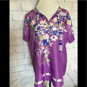 Tops - NWOT orchid printed blouse